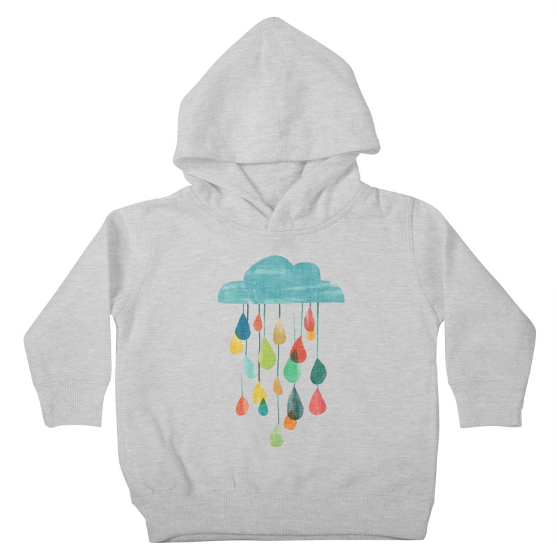 It is raining rainbow Kids Toddler Pullover Hoody by Trabu - Graphic Art Shop