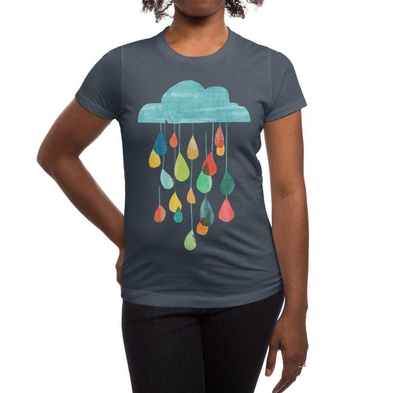 It is raining rainbow Women's T-Shirt by Trabu - Graphic Art Shop