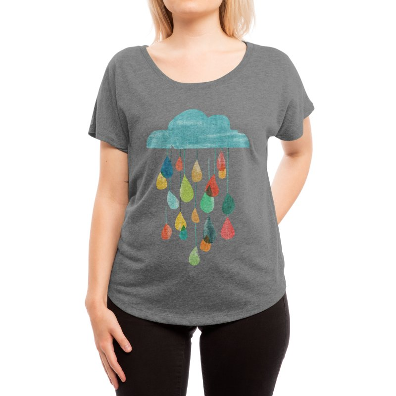 It is raining rainbow Women's Scoop Neck by Trabu - Graphic Art Shop