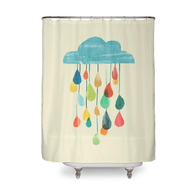 It is raining rainbow Home Shower Curtain by Trabu - Graphic Art Shop