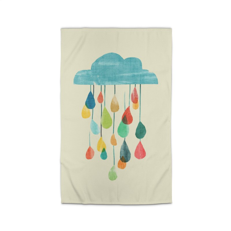 It is raining rainbow Home Rug by Trabu - Graphic Art Shop