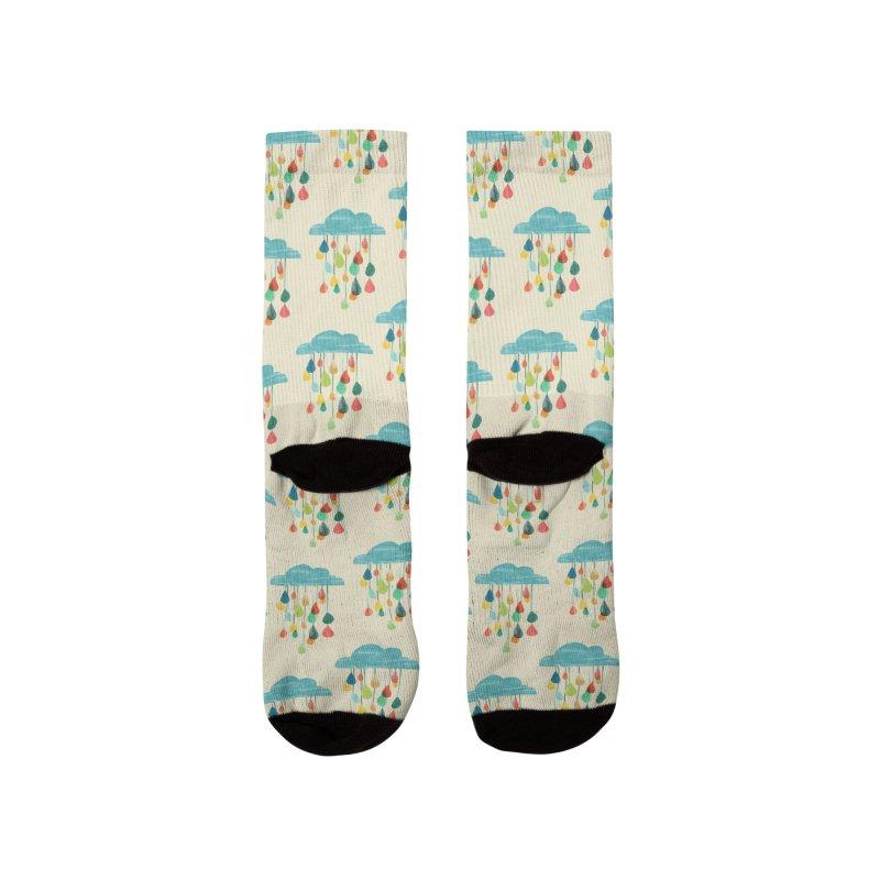 It is raining rainbow Men's Socks by Trabu - Graphic Art Shop
