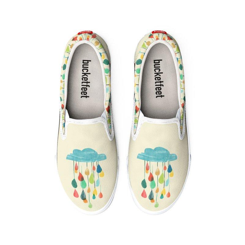 It is raining rainbow Men's Shoes by Trabu - Graphic Art Shop