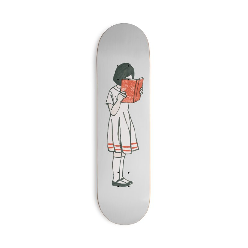 Bookworm Accessories Skateboard by Trabu - Graphic Art Shop