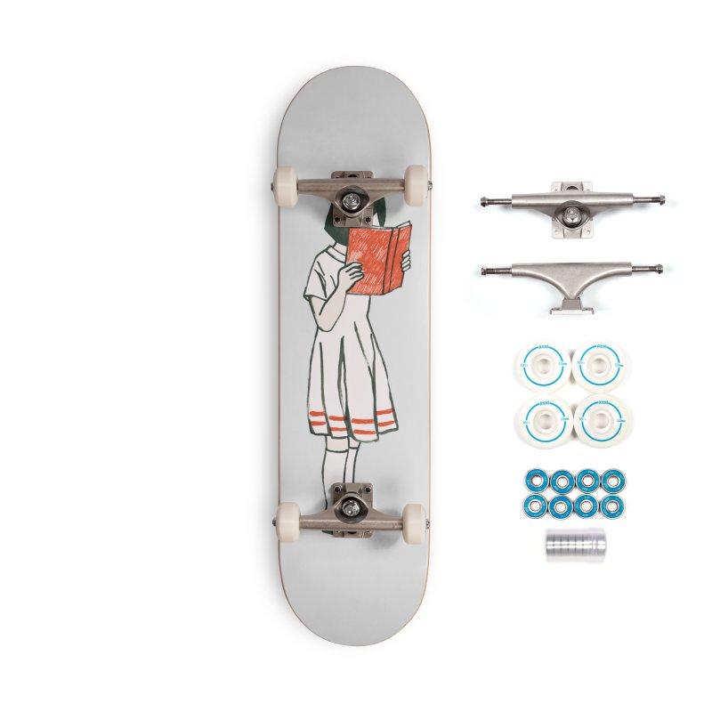 Bookworm Accessories Skateboard by Trabu - Graphic Art Shop