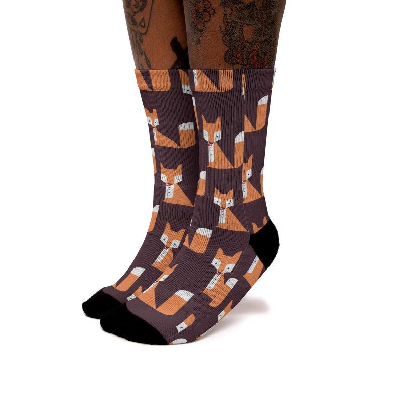 Dandy fox Women's Socks by Trabu - Graphic Art Shop