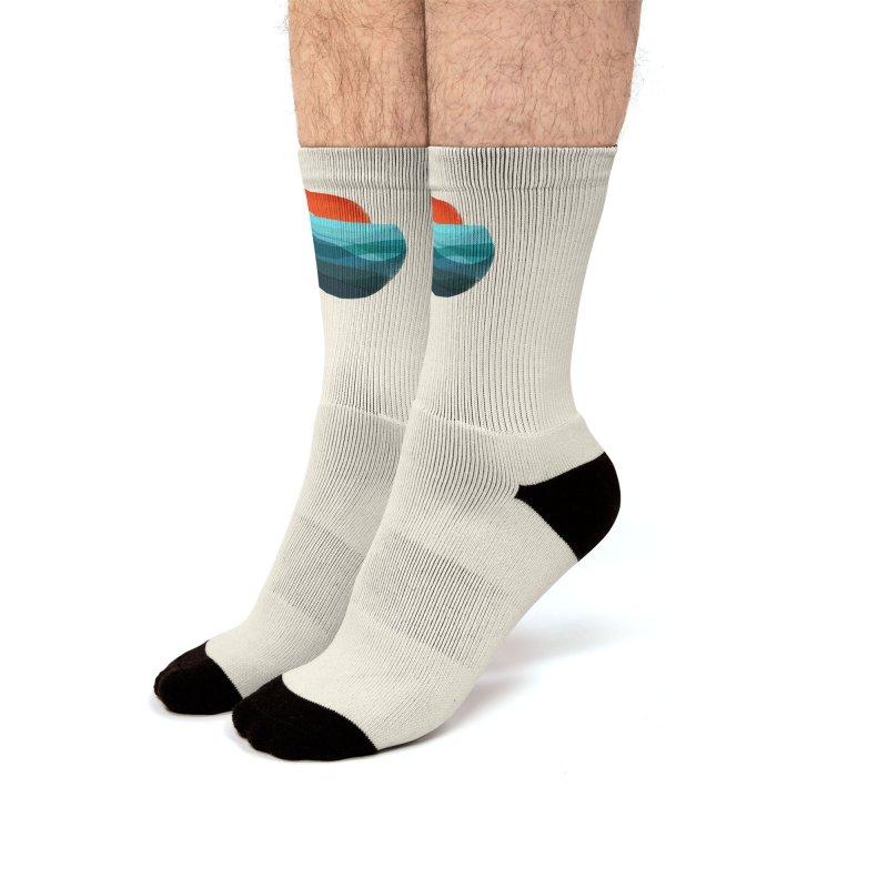Ocean wave Men's Socks by Trabu - Graphic Art Shop