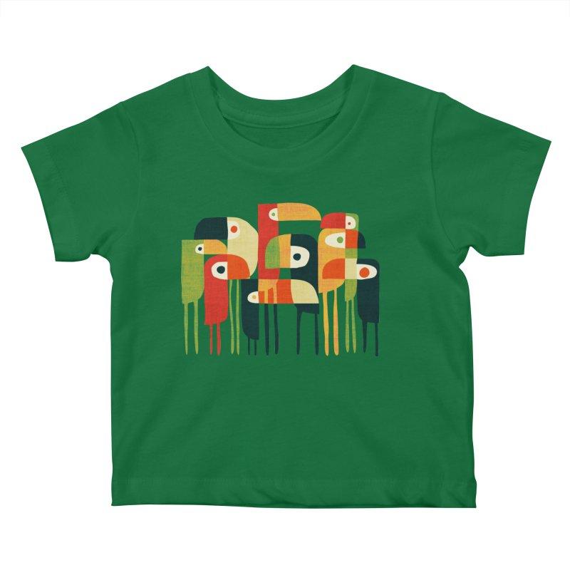 Birds Kids Baby T-Shirt by Trabu - Graphic Art Shop