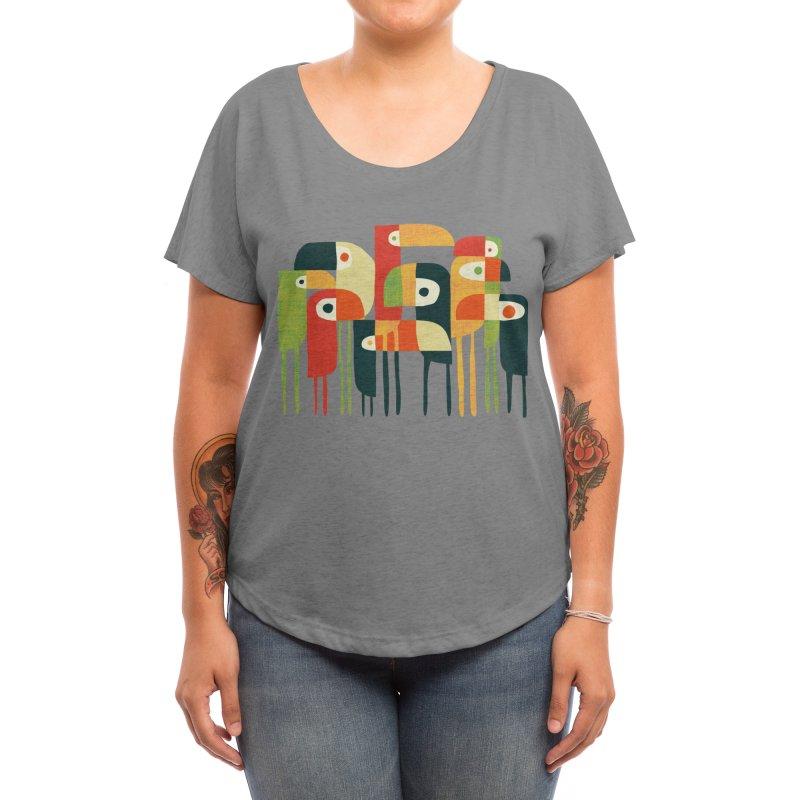 Birds Women's Scoop Neck by Trabu - Graphic Art Shop