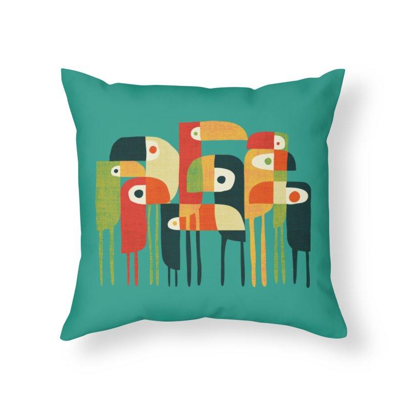 Birds Home Throw Pillow by Trabu - Graphic Art Shop