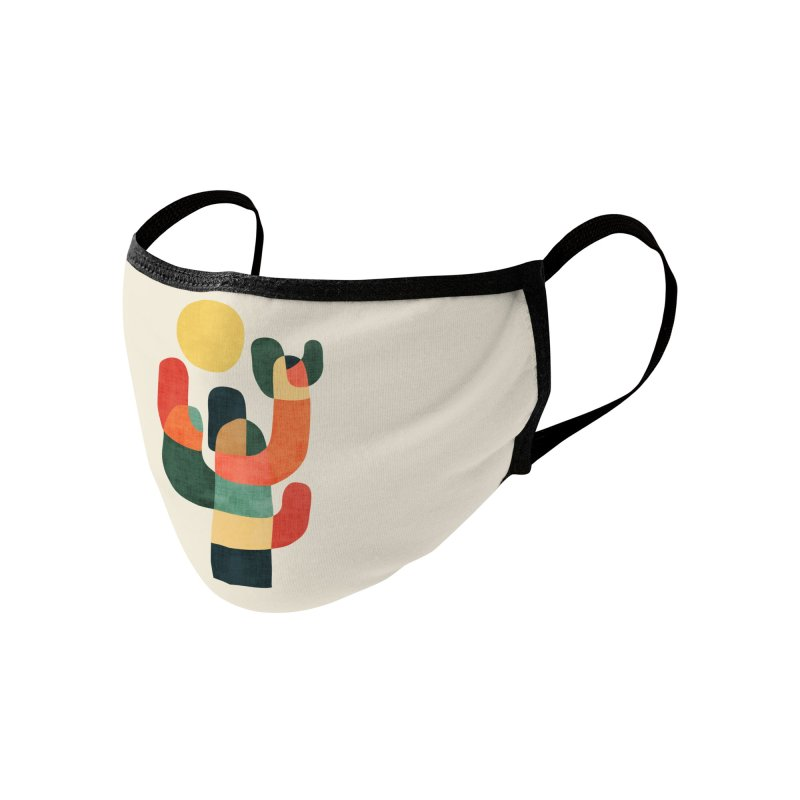 Mid-century saguro cacti Accessories Face Mask by Trabu - Graphic Art Shop