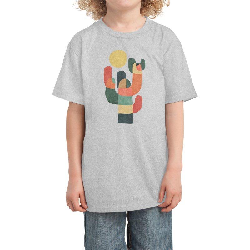 Mid-century saguro cacti Kids T-Shirt by Trabu - Graphic Art Shop