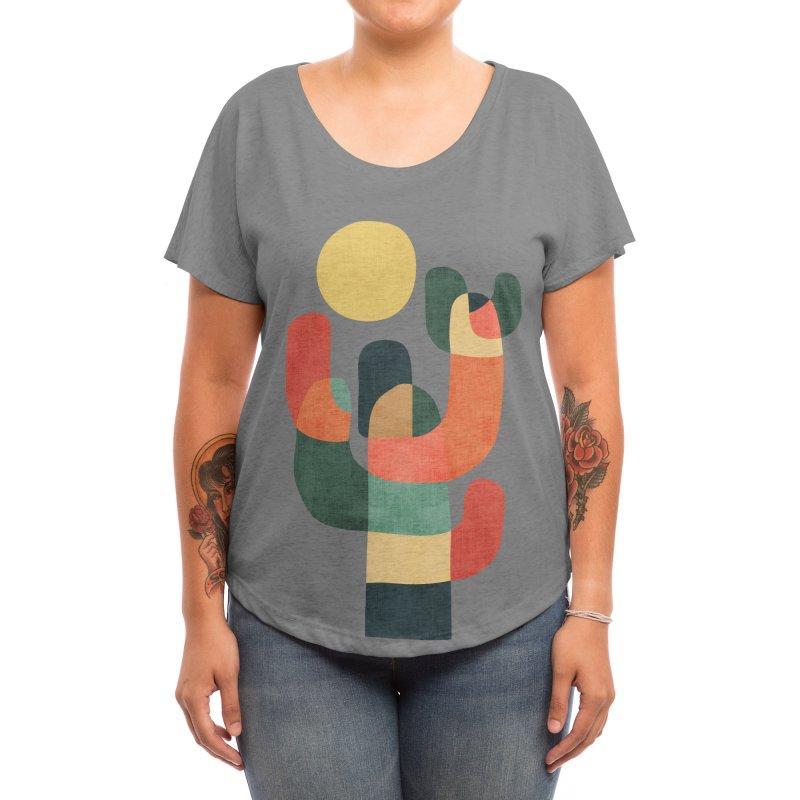 Mid-century saguro cacti Women's Scoop Neck by Trabu - Graphic Art Shop