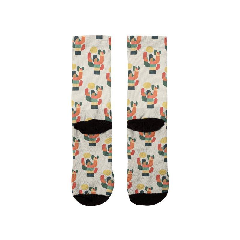 Mid-century saguro cacti Men's Socks by Trabu - Graphic Art Shop