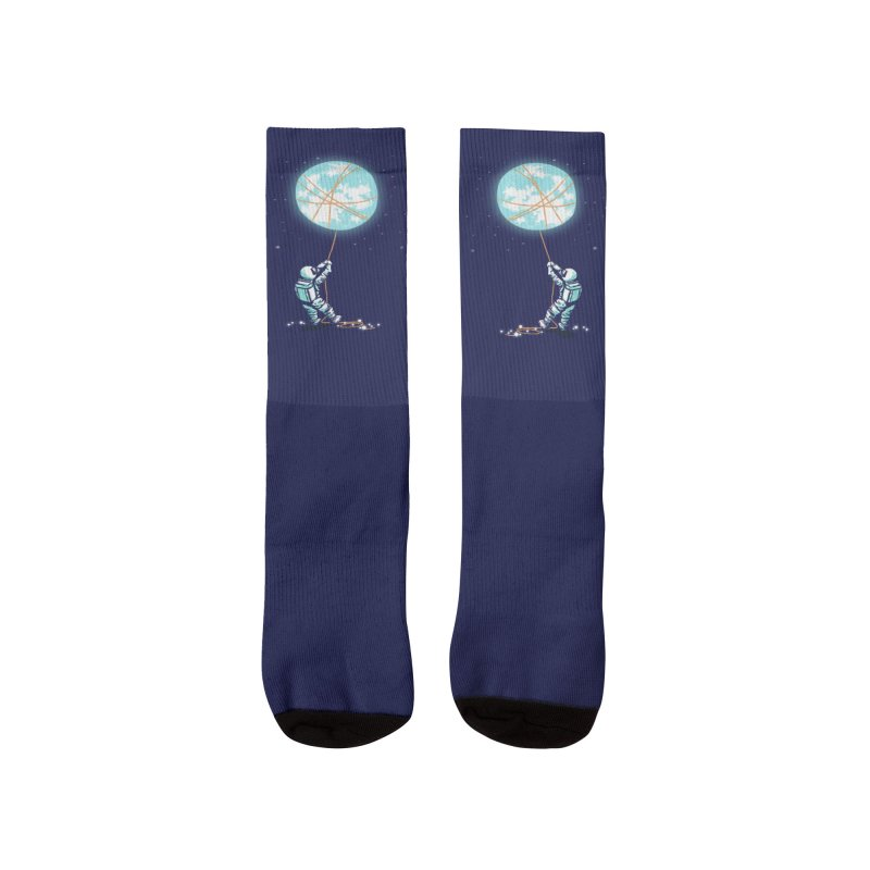 Moon and the stars Women's Socks by Trabu - Graphic Art Shop