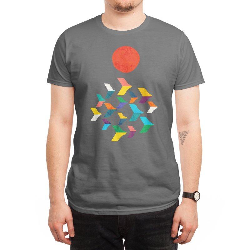 A flock of birds Men's T-Shirt by Trabu - Graphic Art Shop