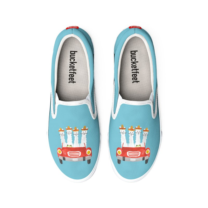 Llamas on a roadtrip Women's Shoes by Trabu - Graphic Art Shop