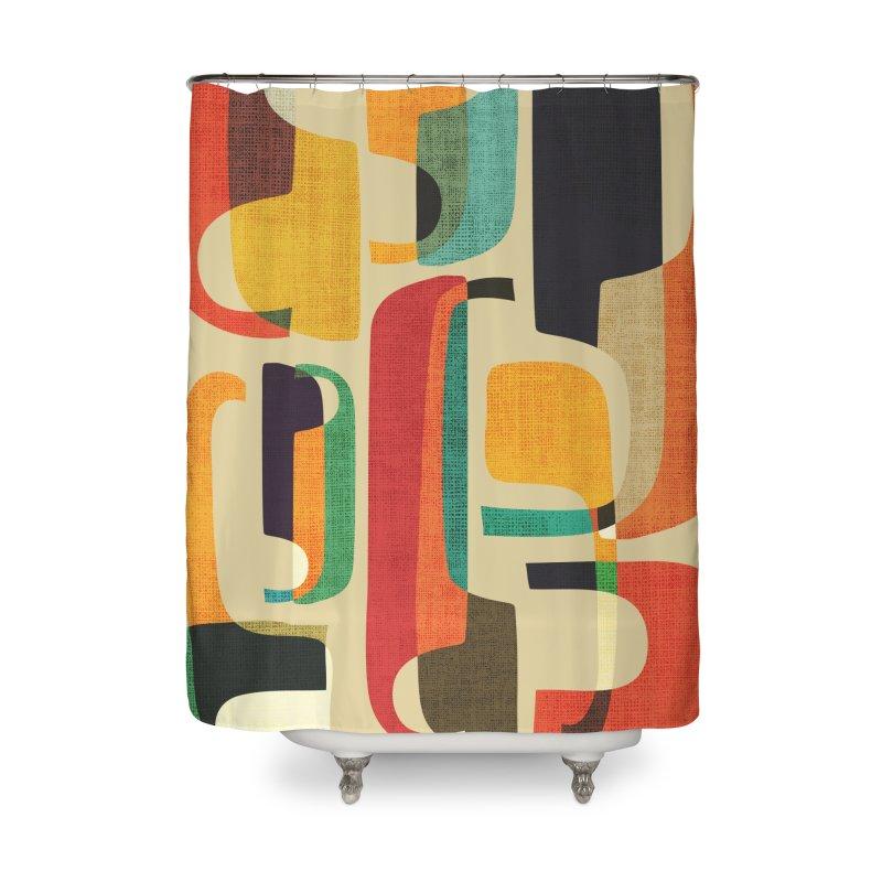 Mid-century modern Home Shower Curtain by Trabu - Graphic Art Shop