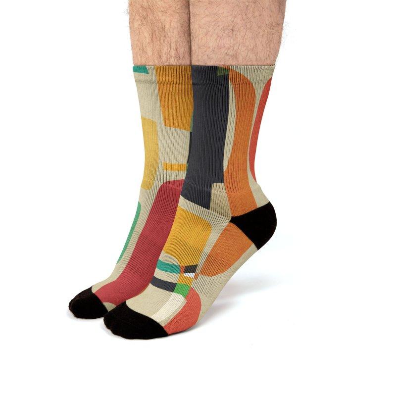 Mid-century modern Men's Socks by Trabu - Graphic Art Shop