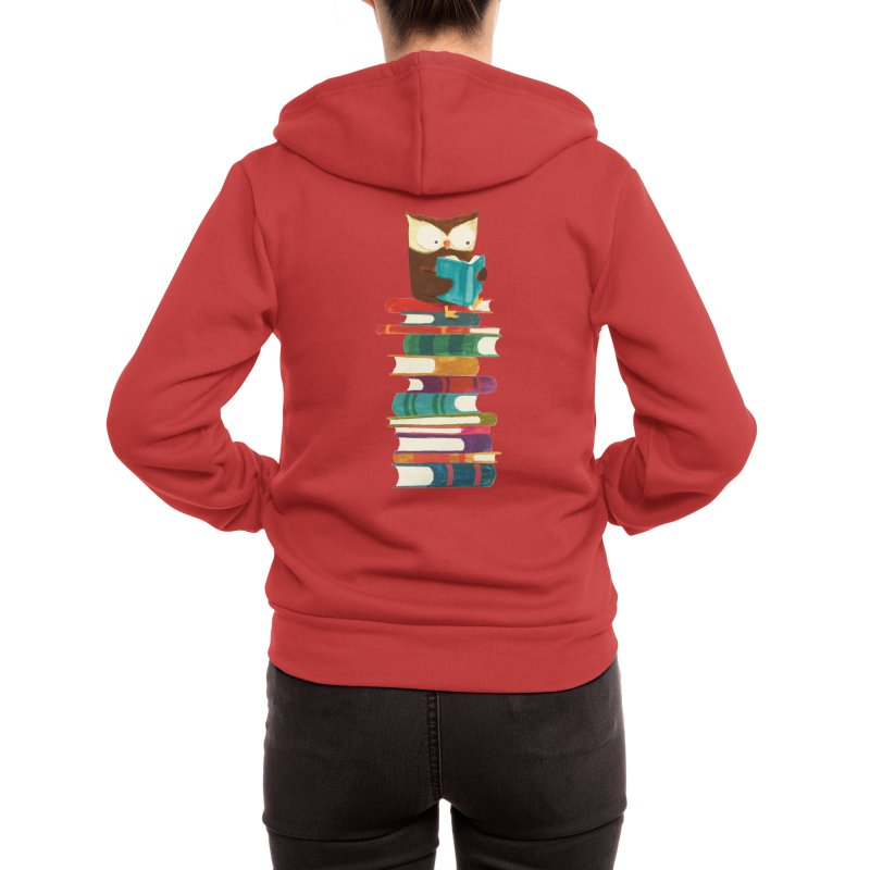 Wise owl Women's Zip-Up Hoody by Trabu - Graphic Art Shop
