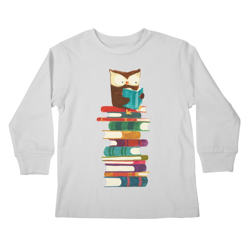 Wise owl Kids Longsleeve T-Shirt by Trabu - Graphic Art Shop