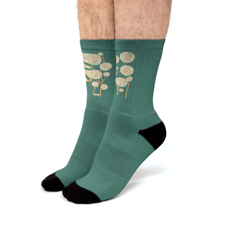 Tropical jungle with tiger Men's Socks by Trabu - Graphic Art Shop