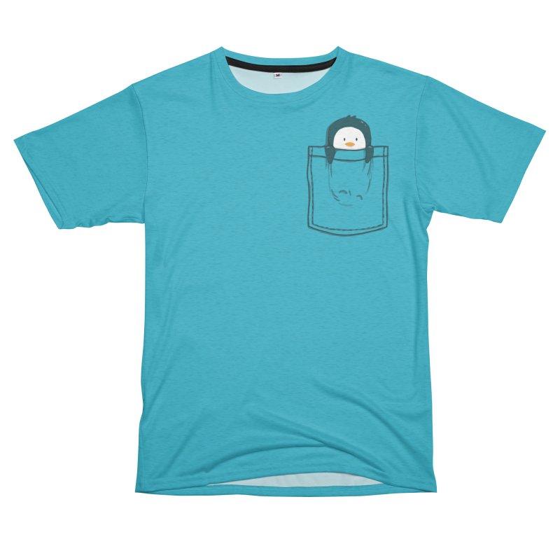 Pocket pet penguin Men's Cut & Sew by Trabu - Graphic Art Shop