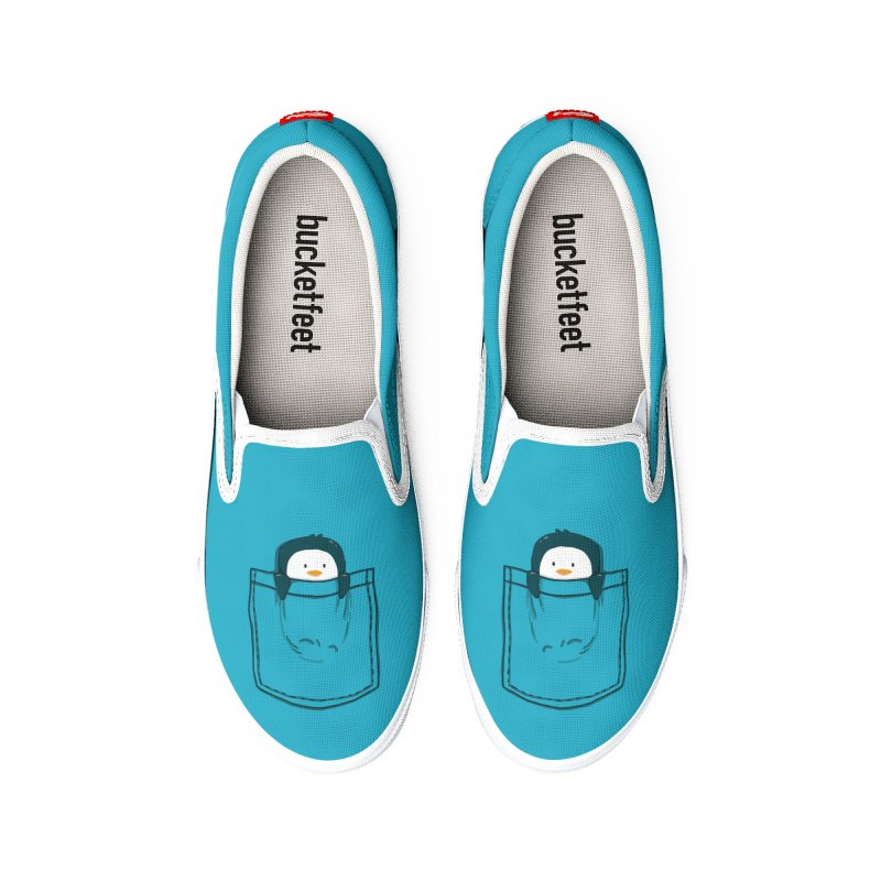 Pocket pet penguin Women's Shoes by Trabu - Graphic Art Shop