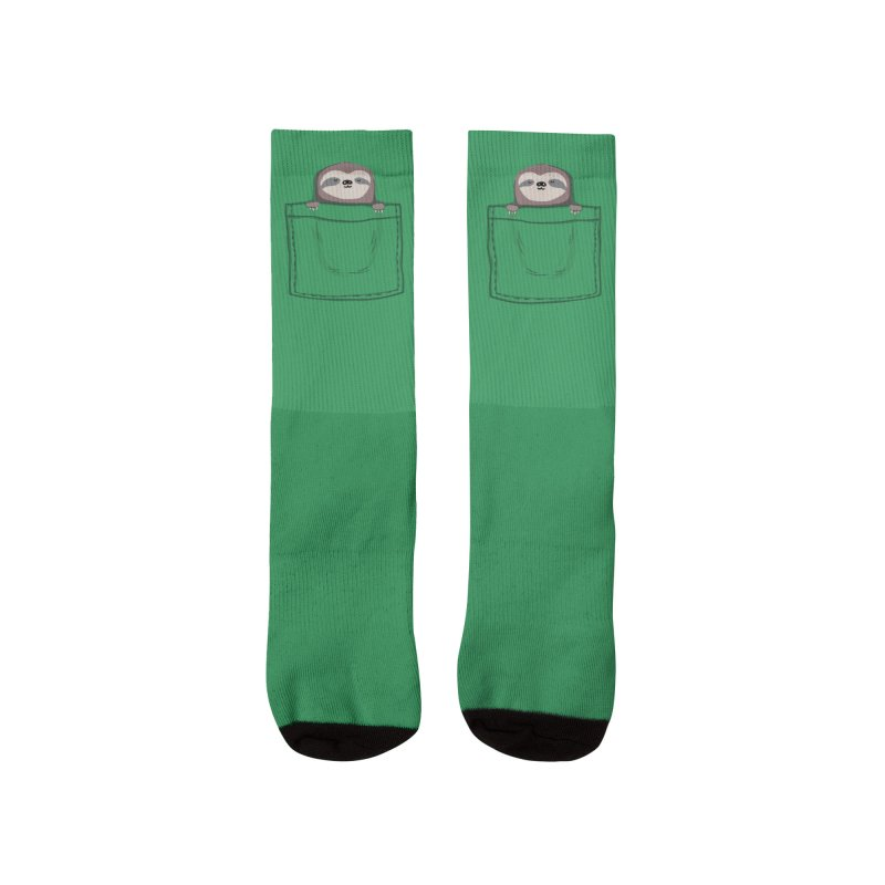 Pocket pet sleepy sloth Women's Socks by Trabu - Graphic Art Shop