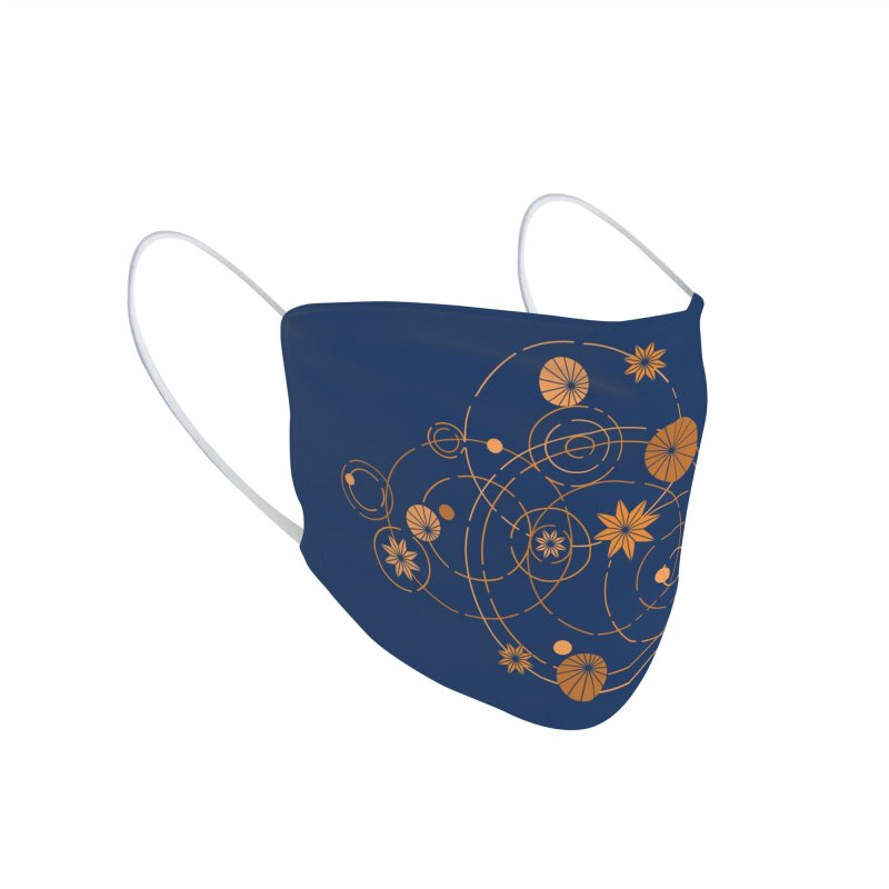 Geometric water lily Accessories Face Mask by Trabu - Graphic Art Shop