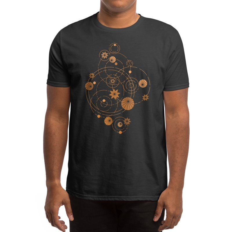 Geometric water lily Men's T-Shirt by Trabu - Graphic Art Shop