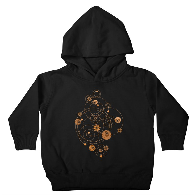 Geometric water lily Kids Toddler Pullover Hoody by Trabu - Graphic Art Shop