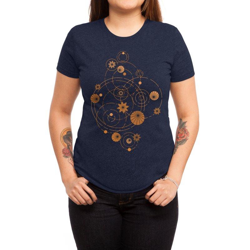 Geometric water lily Women's T-Shirt by Trabu - Graphic Art Shop