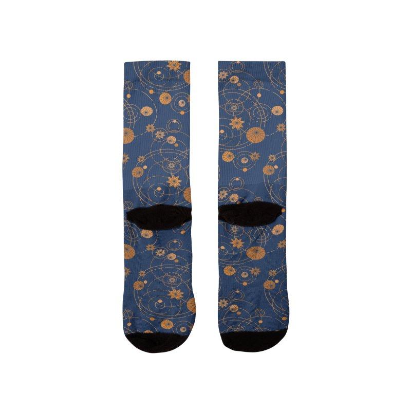Geometric water lily Men's Socks by Trabu - Graphic Art Shop