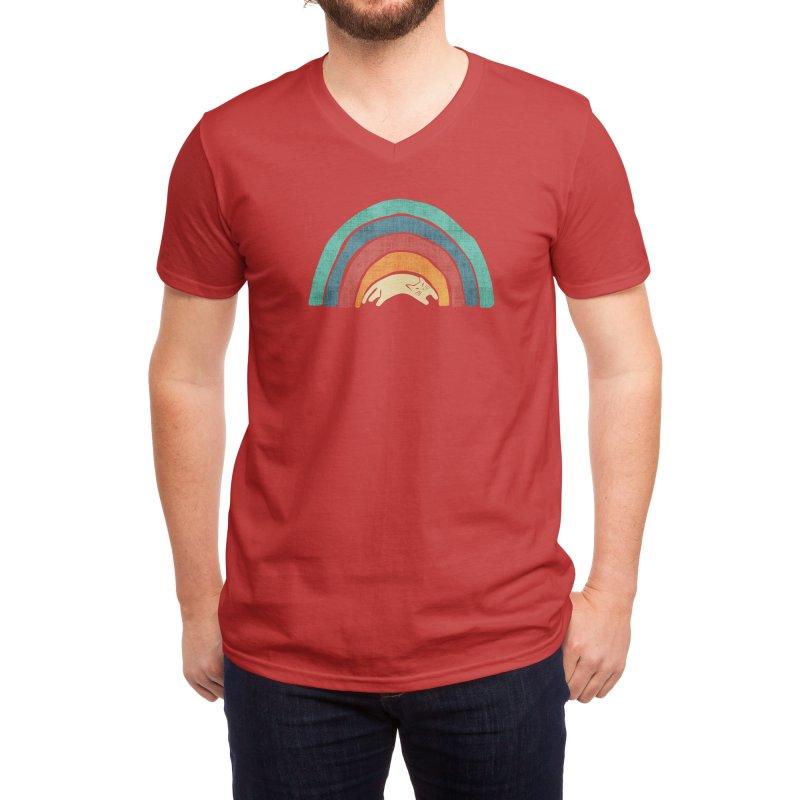 A little precious rainbow Men's V-Neck by Trabu - Graphic Art Shop