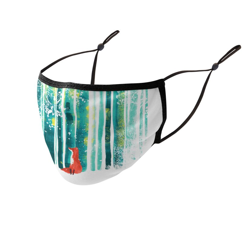 Lone Fox Accessories Face Mask by Trabu - Graphic Art Shop