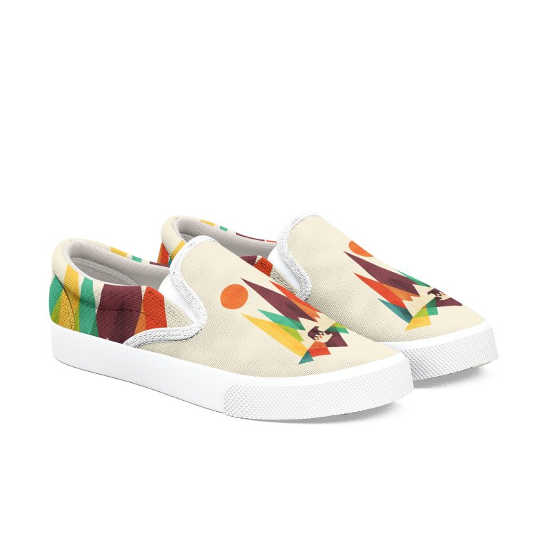 Bear and mountains Men's Shoes by Trabu - Graphic Art Shop