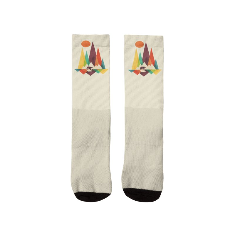 Bear and mountains Women's Socks by Trabu - Graphic Art Shop