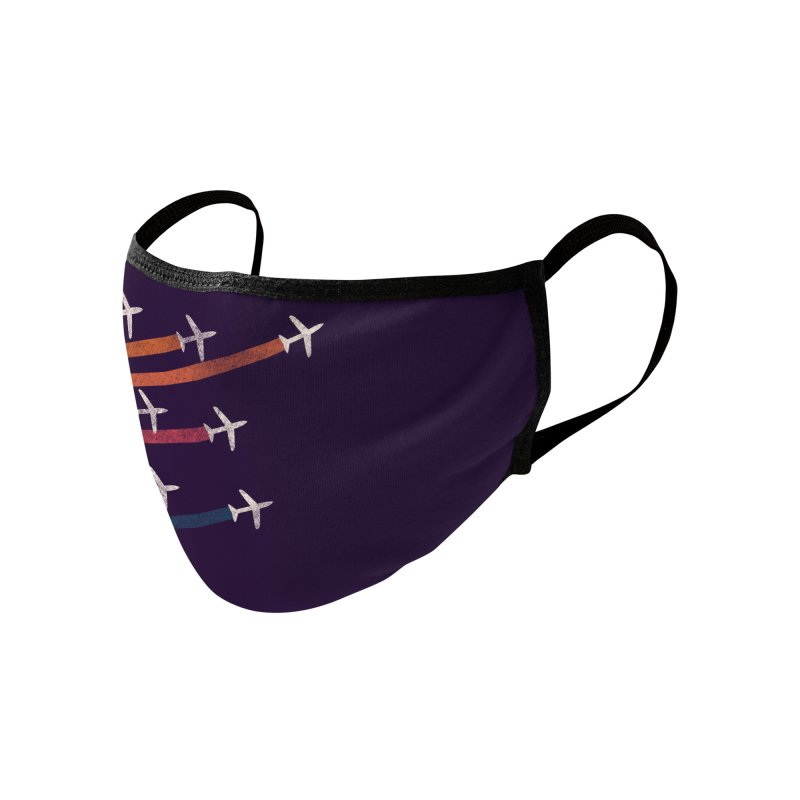 Flight Accessories Face Mask by Trabu - Graphic Art Shop