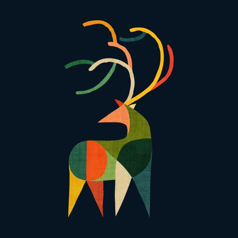 Patched deer by Trabu - shop Cool Graphic t-shirt, art print, art