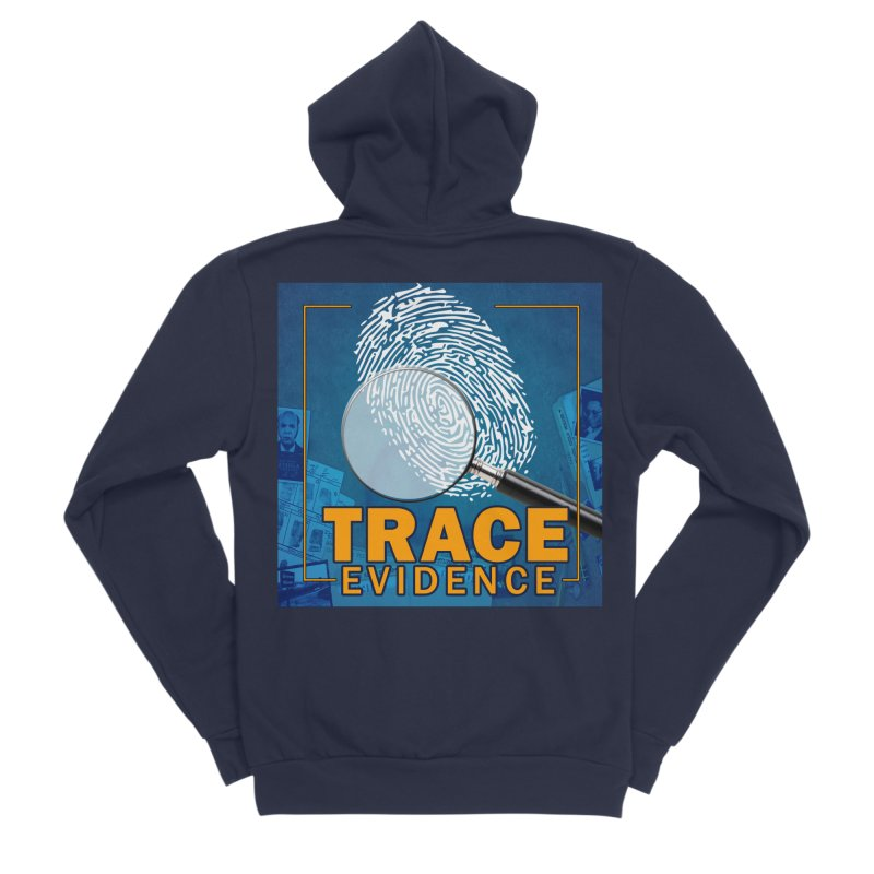 Old School Men's Sponge Fleece Zip-Up Hoody by Trace Evidence - A True Crime Podcast