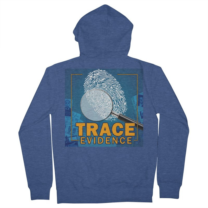 Old School Men's French Terry Zip-Up Hoody by Trace Evidence - A True Crime Podcast