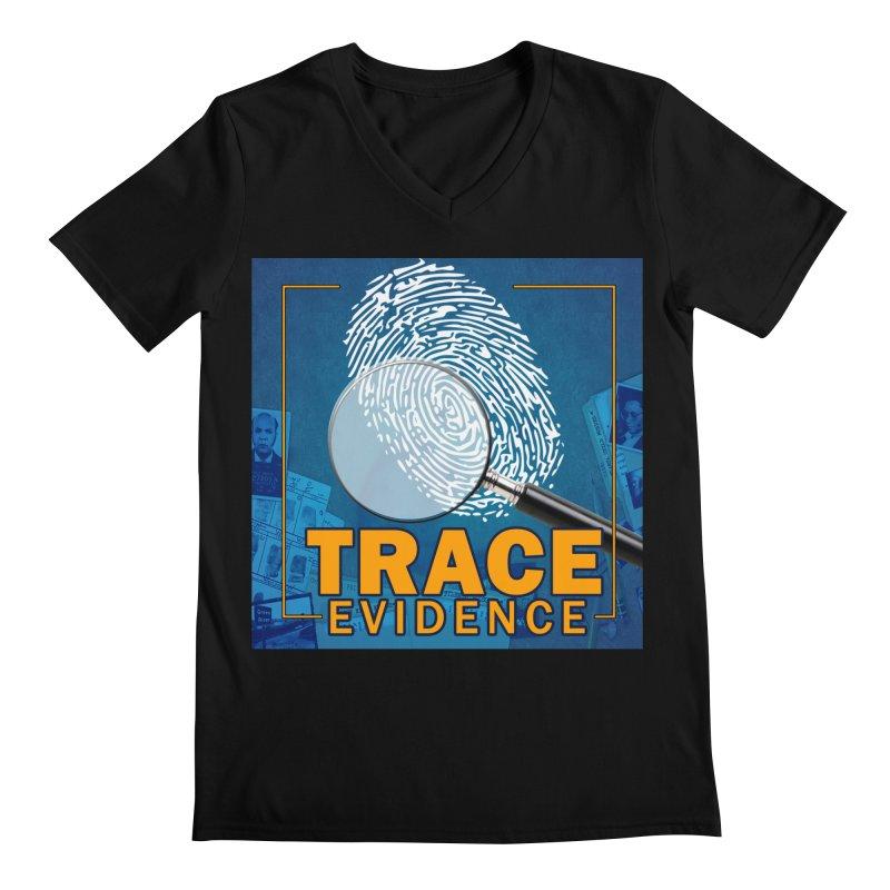 Old School Men's Regular V-Neck by Trace Evidence - A True Crime Podcast