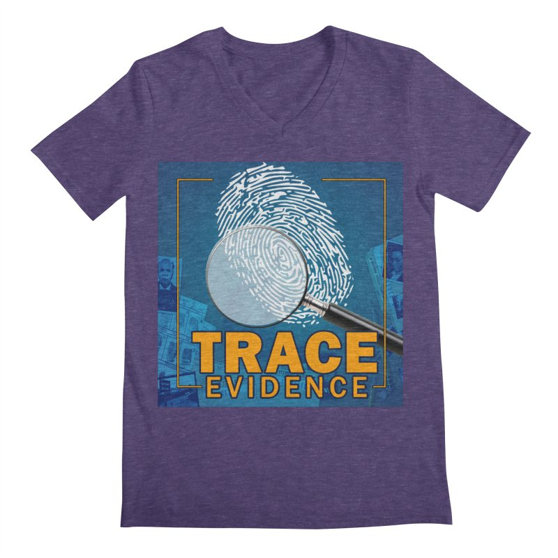 Old School Men's Regular V-Neck by Trace Evidence - A True Crime Podcast