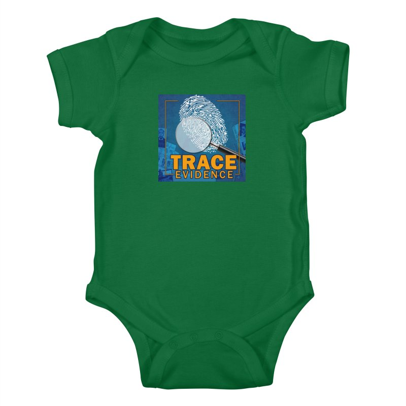Old School Kids Baby Bodysuit by Trace Evidence - A True Crime Podcast