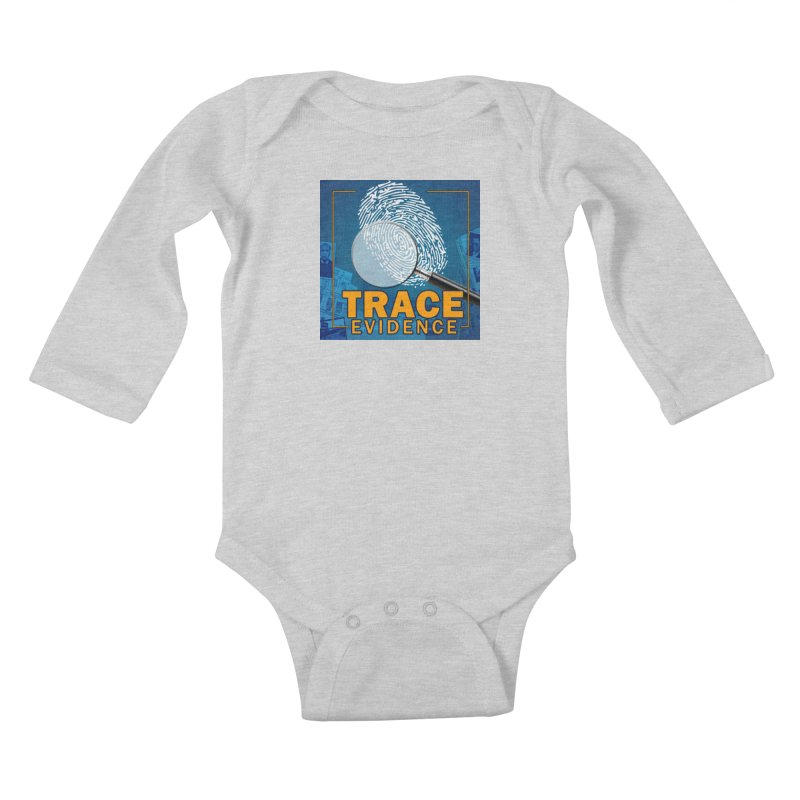 Old School Kids Baby Longsleeve Bodysuit by Trace Evidence - A True Crime Podcast