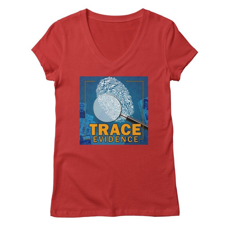 Old School Women's Regular V-Neck by Trace Evidence - A True Crime Podcast