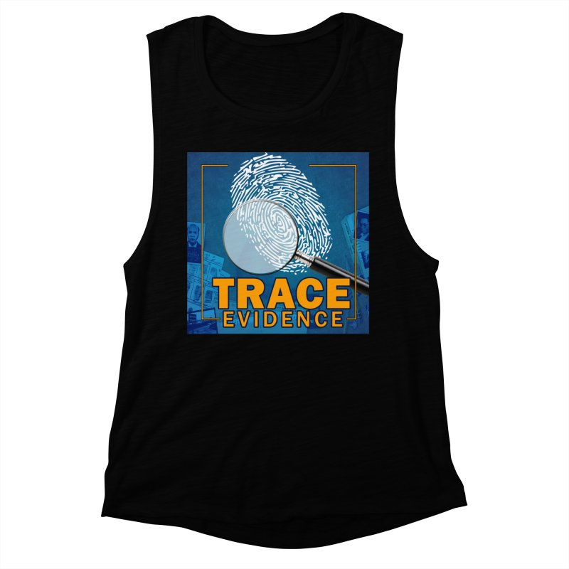 Old School Women's Muscle Tank by Trace Evidence - A True Crime Podcast