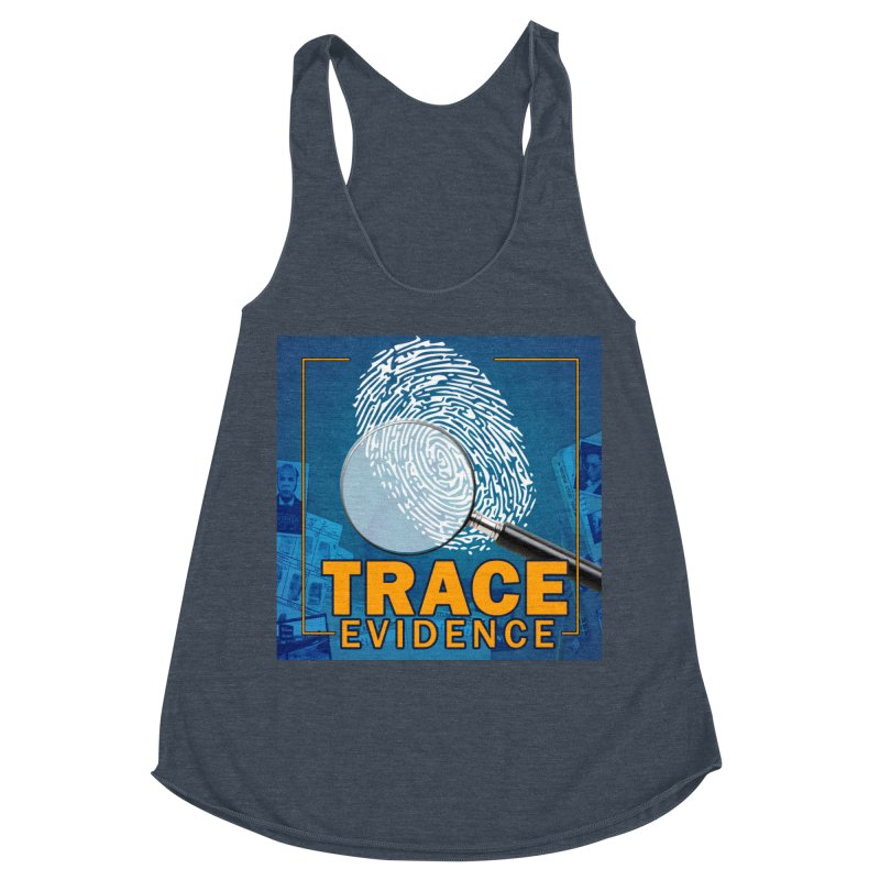 Old School Women's Racerback Triblend Tank by Trace Evidence - A True Crime Podcast