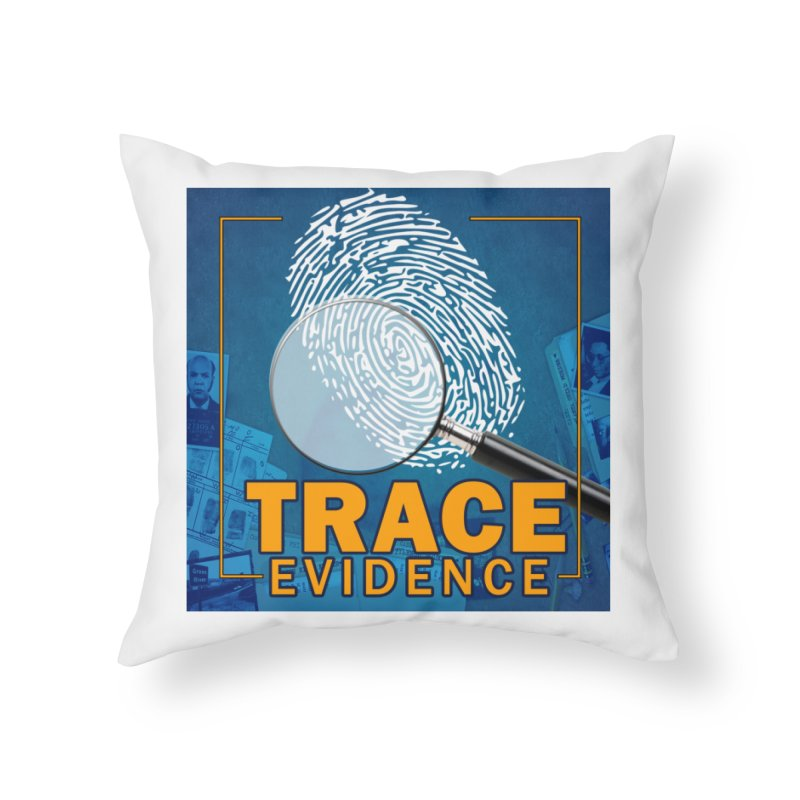 Old School Home Throw Pillow by Trace Evidence - A True Crime Podcast